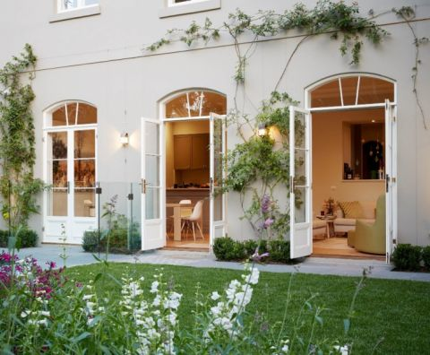 花园推拉门美式风格装潢效果图