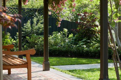 花园背景墙美式风格装潢图片