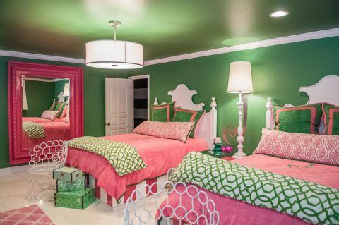儿童房美式风格效果图大全2017图片_土拨鼠潮流自然儿童房美式风格装修设计效果图欣赏