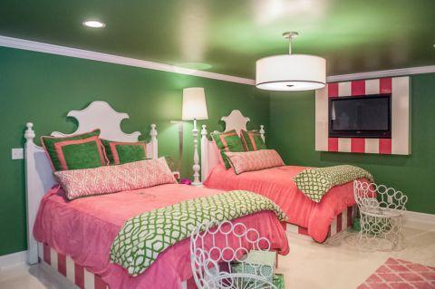 儿童房灯具美式风格装饰图片