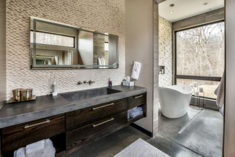 浴室地板砖现代风格效果图