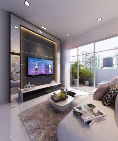 客厅现代风格效果图大全2017图片_土拨鼠极致唯美客厅现代风格装修设计效果图欣赏