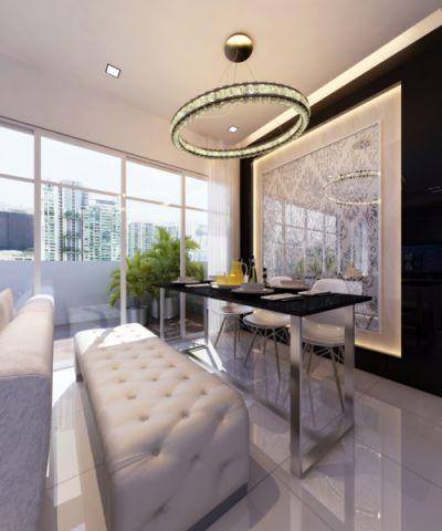 卧室吊顶现代风格装潢效果图