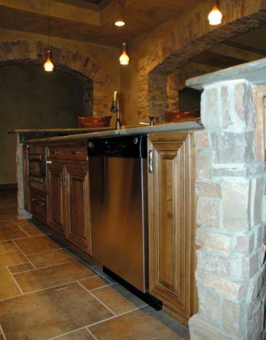 厨房地板砖地中海风格装潢图片
