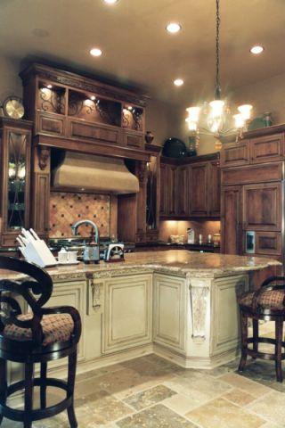 厨房灯具地中海风格装饰设计图片