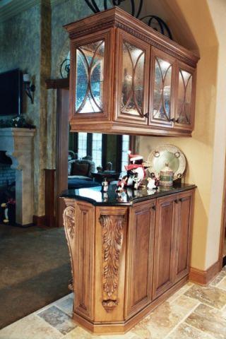厨房隔断地中海风格装潢设计图片