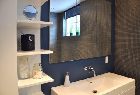 浴室现代风格效果图大全2017图片_土拨鼠极致纯净浴室现代风格装修设计效果图欣赏