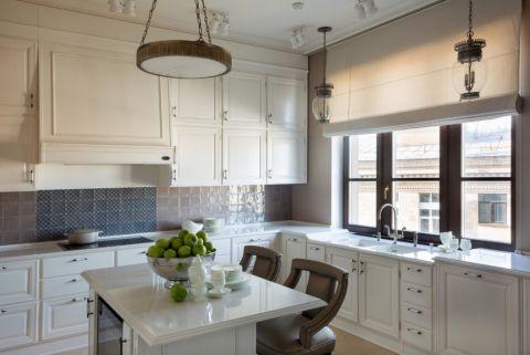 厨房美式风格效果图大全2017图片_土拨鼠大气纯净厨房美式风格装修设计效果图欣赏