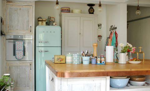 厨房混搭风格效果图大全2017图片_土拨鼠文艺雅致厨房混搭风格装修设计效果图欣赏