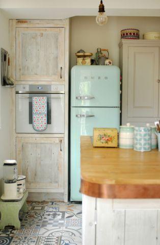 厨房地板砖混搭风格效果图
