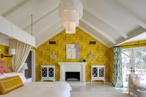 卧室灯具美式风格装潢设计图片