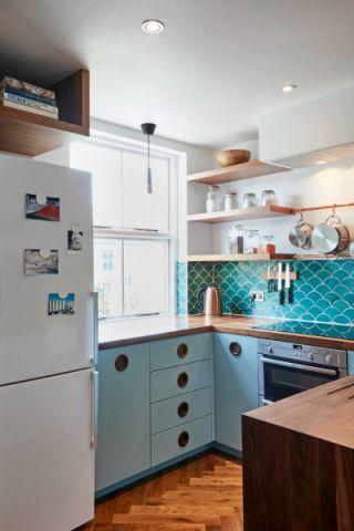 厨房窗帘混搭风格装潢效果图