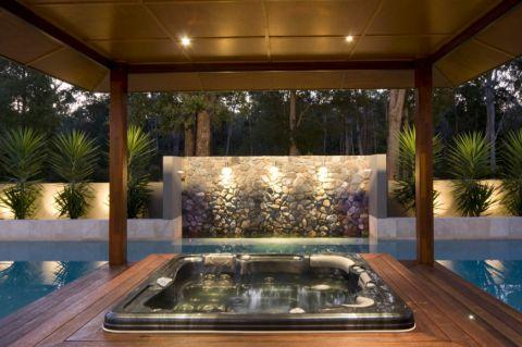 花园地板砖现代风格效果图