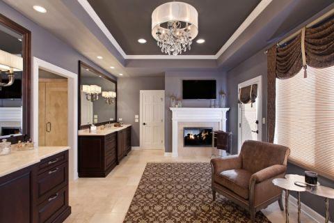 浴室吊顶美式风格装潢设计图片