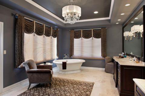 浴室飘窗美式风格效果图