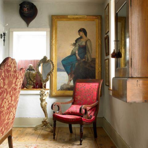 客厅地板砖混搭风格装潢图片