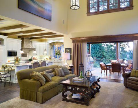 客厅美式风格效果图大全2017图片_土拨鼠美感沉稳客厅美式风格装修设计效果图欣赏