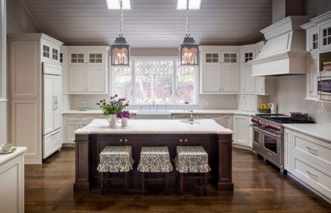 厨房美式风格效果图大全2017图片_土拨鼠奢华舒适厨房美式风格装修设计效果图欣赏