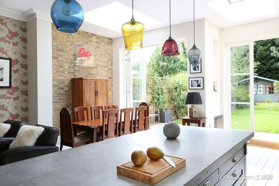 厨房白色隔断混搭风格装修图片