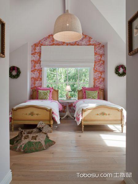 儿童房黄色地板砖美式风格装潢图片