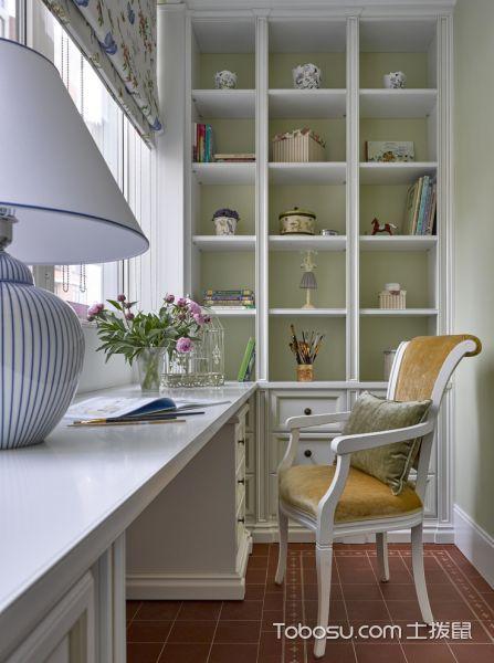 儿童房白色书桌美式风格装潢效果图