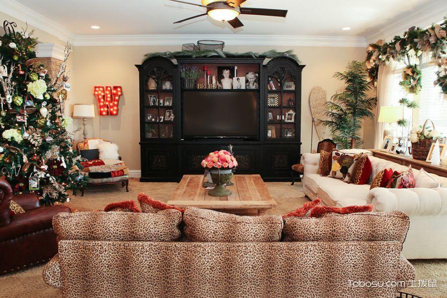 客厅美式风格效果图大全2017图片_土拨鼠简约质朴客厅美式风格装修设计效果图欣赏