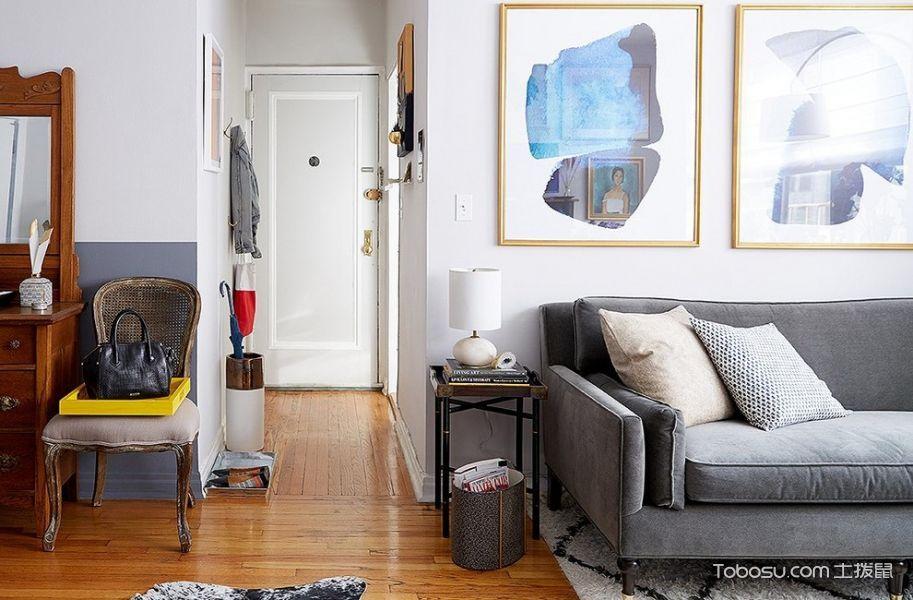 客厅混搭风格效果图大全2017图片_土拨鼠简约雅致客厅混搭风格装修设计效果图欣赏