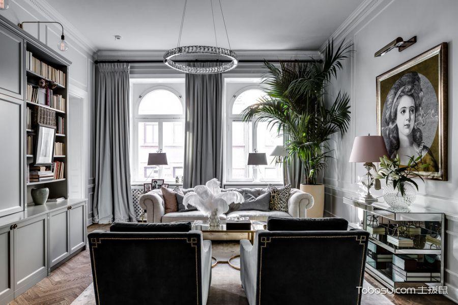 客厅飘窗美式风格效果图