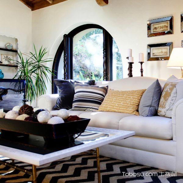 客厅地中海风格效果图大全2017图片_土拨鼠个性摩登客厅地中海风格装修设计效果图欣赏