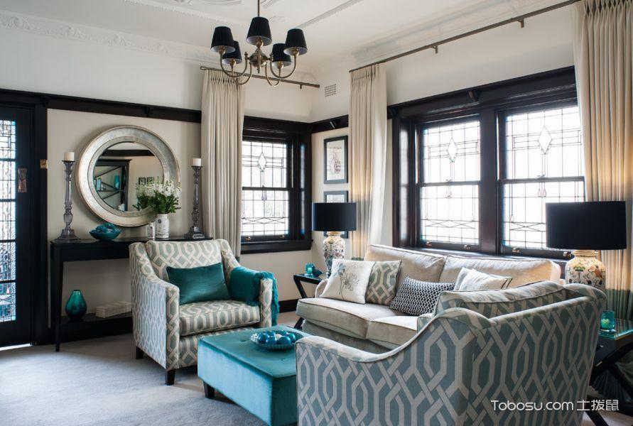 客厅飘窗美式风格装潢效果图