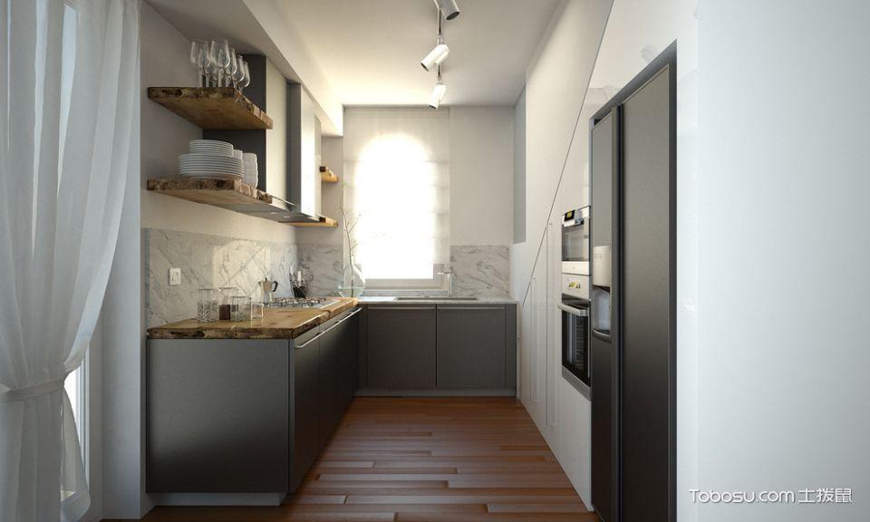 厨房现代风格效果图大全2017图片_土拨鼠美感时尚厨房现代风格装修设计效果图欣赏