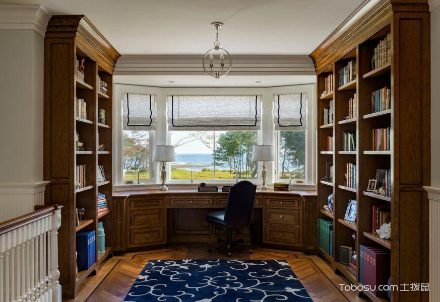 书房美式风格效果图大全2017图片