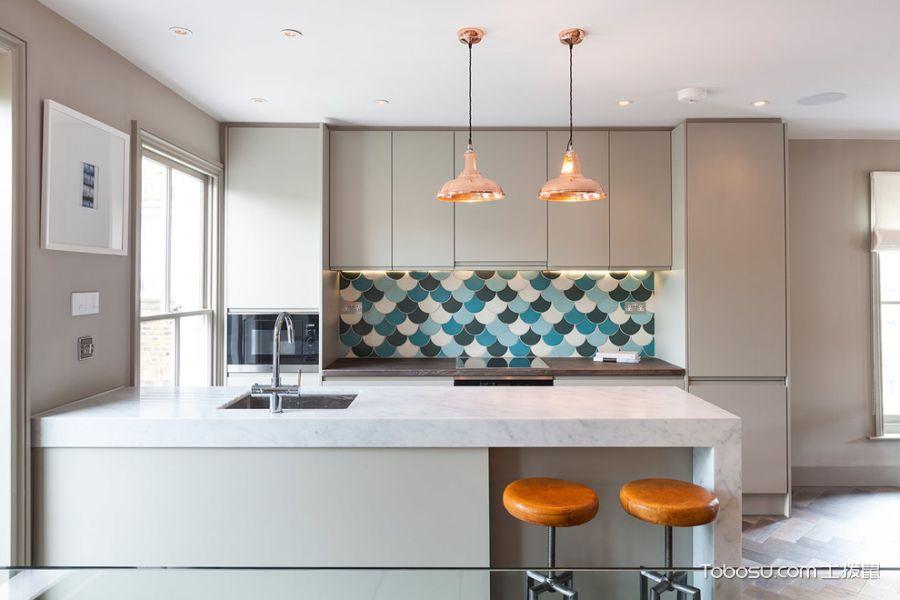 厨房现代风格效果图大全2017图片_土拨鼠精致温馨厨房现代风格装修设计效果图欣赏
