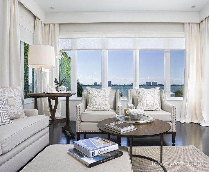 客厅阁楼现代风格装潢效果图