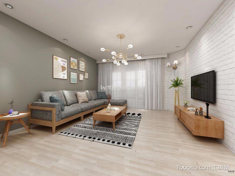 客厅 背景墙_利雅湾120平米四居室北欧风格装修效果图
