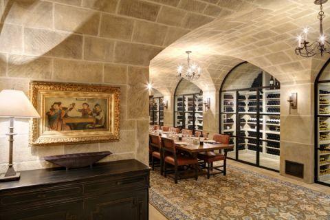酒窖灯具地中海风格装潢图片