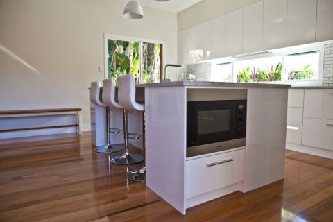 厨房地板砖现代风格装潢效果图
