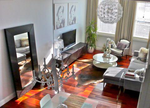 客厅现代风格效果图大全2017图片_土拨鼠温馨质朴客厅现代风格装修设计效果图欣赏