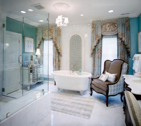 浴室地中海风格效果图大全2017图片_土拨鼠清新格调浴室地中海风格装修设计效果图欣赏