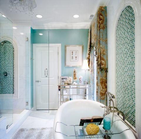 浴室推拉门地中海风格装修设计图片