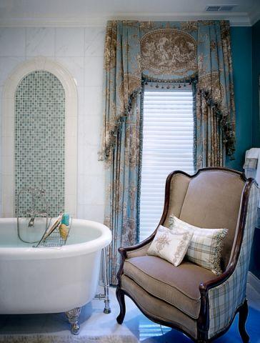 浴室窗帘地中海风格装潢设计图片