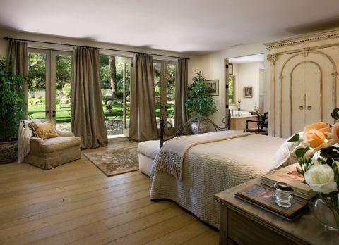 卧室窗帘地中海风格装修设计图片