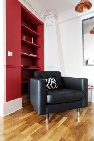 客厅博古架混搭风格装潢图片