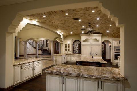 厨房吧台地中海风格装修图片