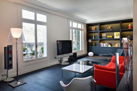 客厅博古架现代风格装饰设计图片