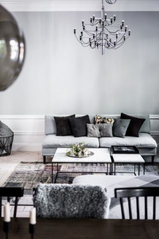 客厅茶几北欧风格装潢图片