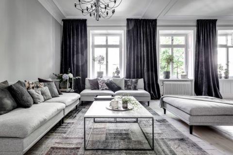 客厅北欧风格效果图大全2017图片_土拨鼠干净迷人客厅北欧风格装修设计效果图欣赏