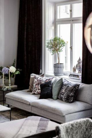 客厅窗台北欧风格装潢图片