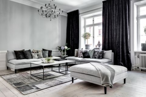 客厅沙发北欧风格装潢设计图片