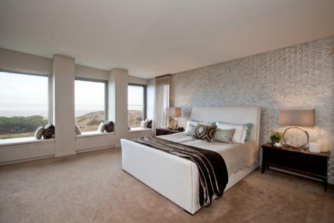 卧室飘窗北欧风格装饰设计图片